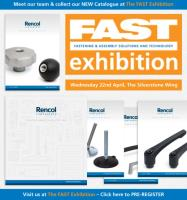 Rencol Components will launch our NEW Catalogue at the FAST Exhibition on the 22nd April at Silverstone Circuit, Northamptonshire.