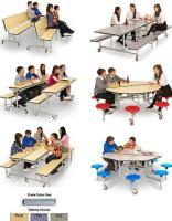 School Mobile Seating Units, Exam Tables & Chairs, Staging & Folding Chairs, Secure Laptop Storage.