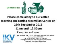 IKV host coffee morning at 11am on Friday 25th September