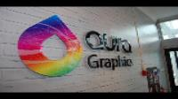 Aura install interior workplace branded graphics in HQ Offices