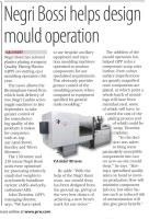 Negri Bossi helps design mould operation.