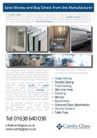 In-House Glass Processing Facilities