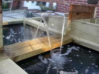 Impressive railway sleeper WATER FEATURE