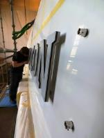 Installing Yacht Signs with care