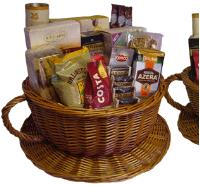 Wow, they're nice!  How wonderful do these filled baskets and hamper look?