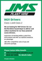 Class 1 and 2 HGV Drivers wanted – Hertfordshire