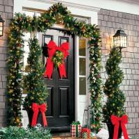 This Year have a Festive Shop or Office Entrance with an Artificial Topiary Tree.