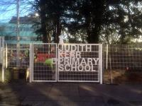 'Cat gates' give bilingual school personalised entrance