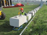 The advantages of using precast concrete blocks as Kentledge for hoarding and fencing