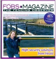FRONT PAGE FEATURE FOR HEALD IN FENCING OBSERVER MAGAZINE