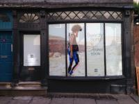 New Sweaty Betty shop opening in York Window vinyls by York Digital Image