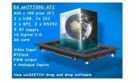 New uniTFT Multifunction Graphic TFT Display with Touch