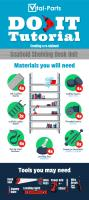 DIY Infographic: Make Your Own Scaffold Desk Unit