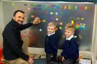 Grail Laser Profiles Ltd. have donated a bespoke manufactured magnetic board and teaching resources to Woodside Primary School.