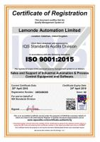 Lamonde Automation ISO9001 renewed for another year.