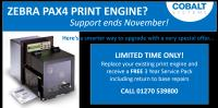 Discontinuation Notice of Service and Support of PAX4 Print Engine