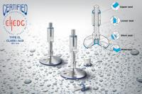 Elesa LMHD levelling feet – meeting hygiene standards, cleaning quickly and efficiently