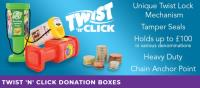 TWIST 'N' CLICK DONATION BOXES