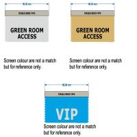 Green Room and VIP access ribbons for meetings and events