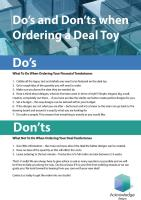 Ordering a Deal Toy