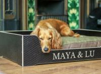 Review Of Our Personalised Dog Bed By Woof Wag Walk