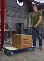 Avoiding health problems by using the right tools for laborious jobs, sack trucks and trolleys