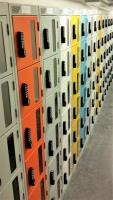Prevent employee theft with clear door and vision panel lockers