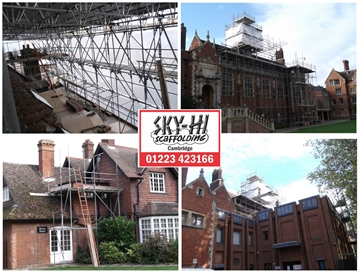 Specialists In New Builds Scaffold In Cambridge