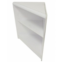 Economy Self Assembly: Open Front Triangle Corner White 1517