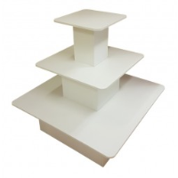 3 Tier Square Island Display Unit / Fully Assembled