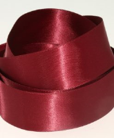 Claret ( Col 870 ) Double Faced Satin Ribbon x 20 Metre Roll