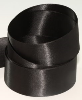 Black ( Col 990 ) Double Faced Satin Ribbon x 20 Metre Roll