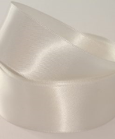 Bridal Ivory ( Col 101 ) Double Faced Satin Ribbon x 20 Metre Roll