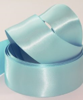 Angel Blue ( Col 705 ) Double Faced Satin Ribbon x 20 Metre Roll
