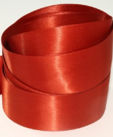 Chestnut Brown ( Col 370 ) Double Faced Satin Ribbon x 20 Metre Roll