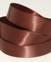 Cocoa Brown ( Col 165 ) Double Faced Satin Ribbon x 20 Metre Roll
