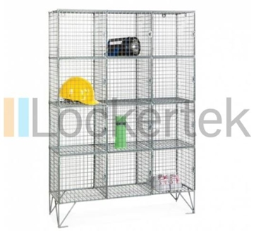 12 Compartment Wire Mesh Locker