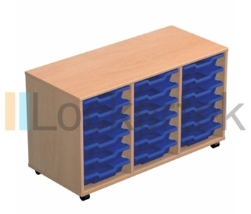 18 Tray Classroom Storage Triple Column