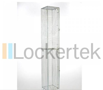 2 Compartment Wire Mesh Locker