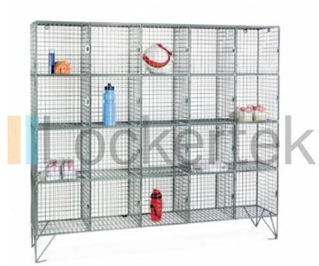 20 Compartment Wire Mesh Locker