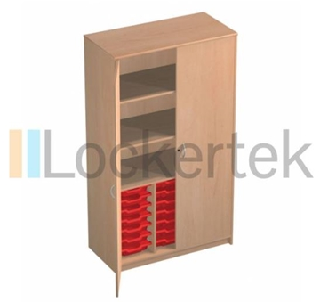 21 Tray Classroom Storage Cupboard With 3 Shelves