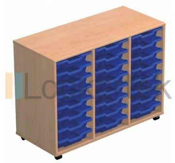 24 Tray Classroom Storage Triple Column
