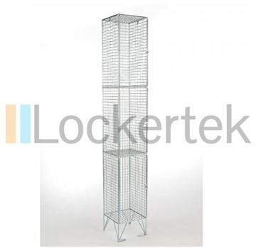3 Compartment Wire Mesh Locker