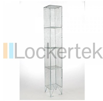 4 Compartment Wire Mesh Locker