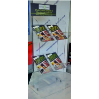 Perspex® Acrylic Double Magazine Stand