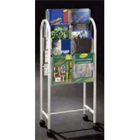 16 Pocket A4 Leaflet Holder Trolley