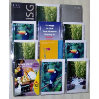 12 Pocket A5 Wall Mounted Leaflet Holder