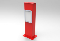 Red Competition Ticket Tower With A4 Poster Frame