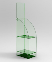 Perspex® Acrylic Glass Look A4 Brochure Stand