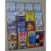 16 Pocket Trifold Wall Mounted Leaflet Holder 450mm Bar